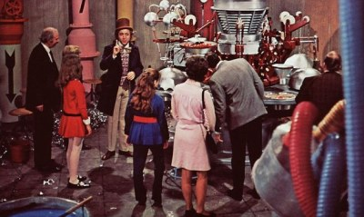 A scene from the film of 'Willy Wonka and the Chocolate Factory.