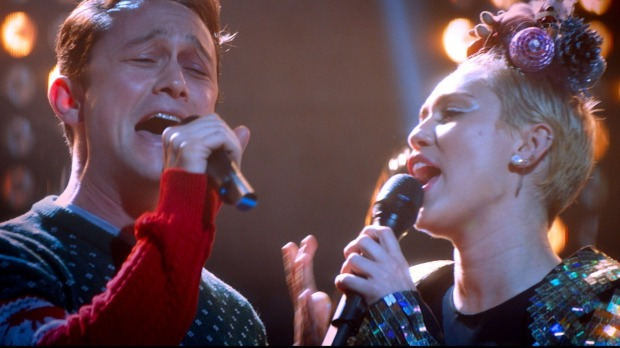 JGL is a Wrecking Ball with Miley Cyrus in 'The Night Before'
