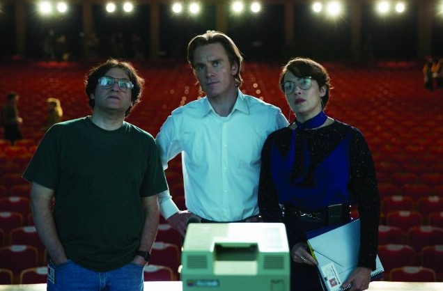 Michael Stuhlbarg, Michael Fassbender and Kate Winslet in 'Steve Jobs'