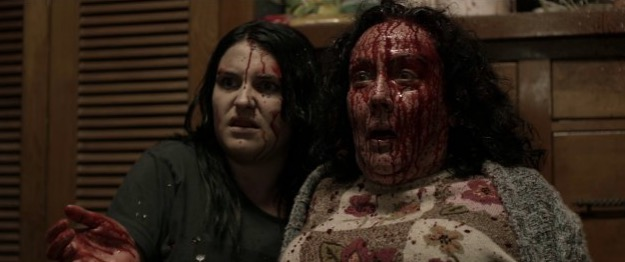 things get a bit messy for Morgana O'Reilly and Rima Te Wiata in 'Housebound'