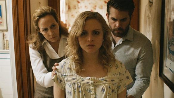 Emily Goss, Taylor Bottles and Cathy Barnett in 'The House on Pine Street'