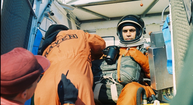 Nick Piantanida about to attempt a world-record skydiving jump