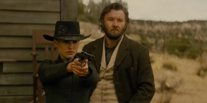Natalie Portman and Joel Edgerton in 'Jane Got a Gun'