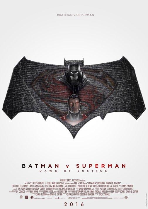 'Batman vs Superman - Dawn of Justice' movie poster
