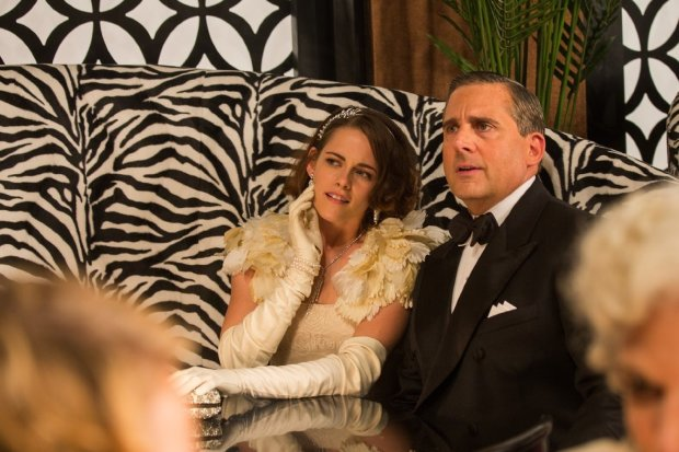 Kristen Stewart and Steve Carell in 'Cafe Society'