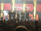 Dream Theater are: (L to R) John Petrucci (guitars), James LaBrie (vocals); Mike Mangini (drums); Jordan Rudess (keyboards); John Myung (bass)