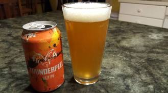 Yummy. Flying Dog's Thunderpeel Hazy IPA. 6.something per-cent New England-style IPA that can't help but put a smile on your face and a buzz in your noggin.