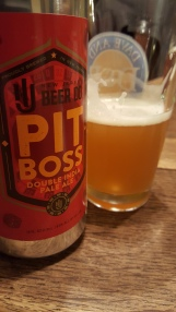 Testing out the Local IPA waters. NJ Beer Co's Pit Boss 2X IPA.