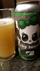 "Testing out the local IPA waters. Cypress Brewing's Baby Insane double dry-hopped IPA with Citra. A ""scaled down"" version of Cypress' Insane in the Grain IPA -- a session ale that is unfortunately far from being among my favorites. Not very memorable at all."