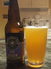 Sessions are baby beers, right? Not this one. Southern Tier is always quality. Their Live Session IPA, surprisingly hazy once poured, is a solid choice for a hot summer day -- better than Corona, that's for damn sure.